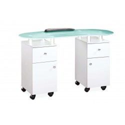 Table manucure en verre + aspiration glace