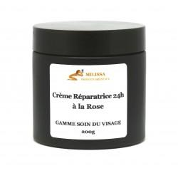 Crème 24h réparatrice à la rose (200g)