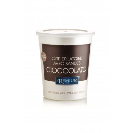 Cire jetable en pot - Chocolat (700ml) - par 12
